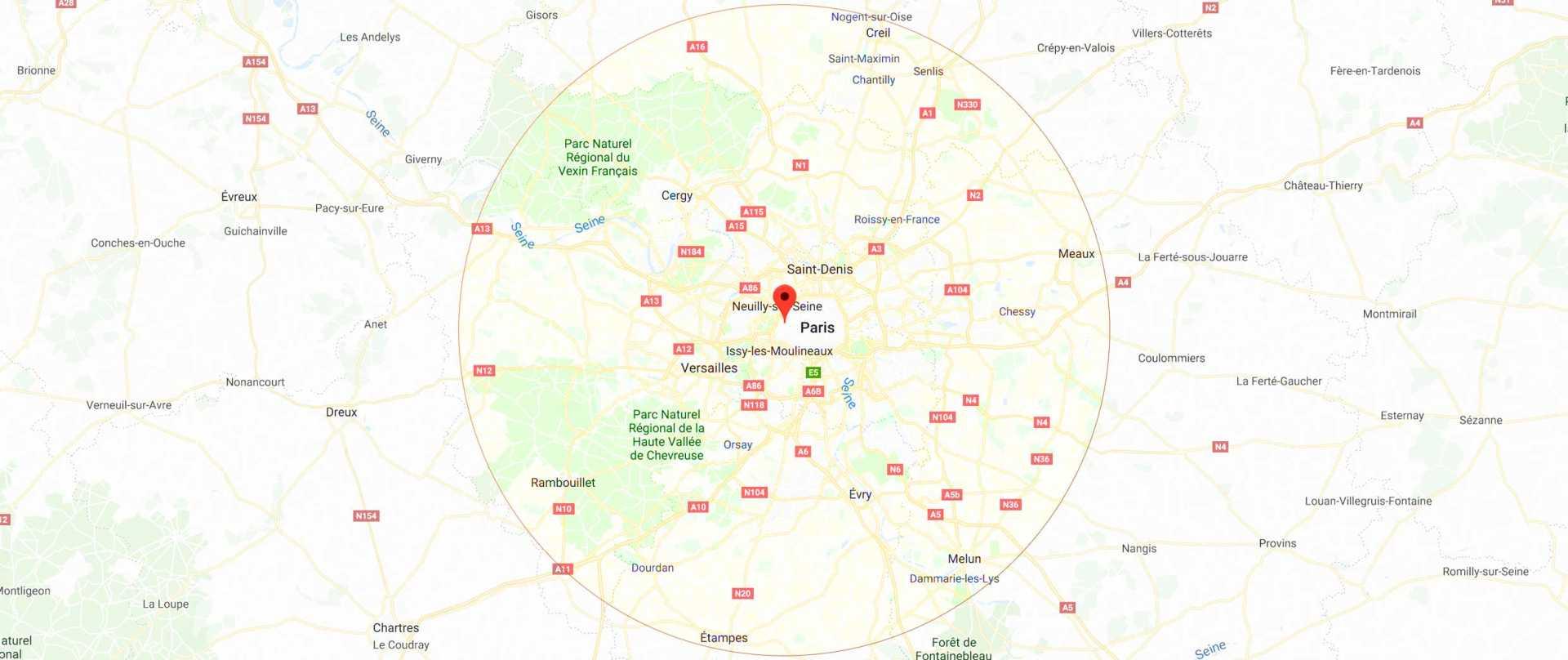 INterventiuon pour detection jusqu'à 60 km autour de Paris 16